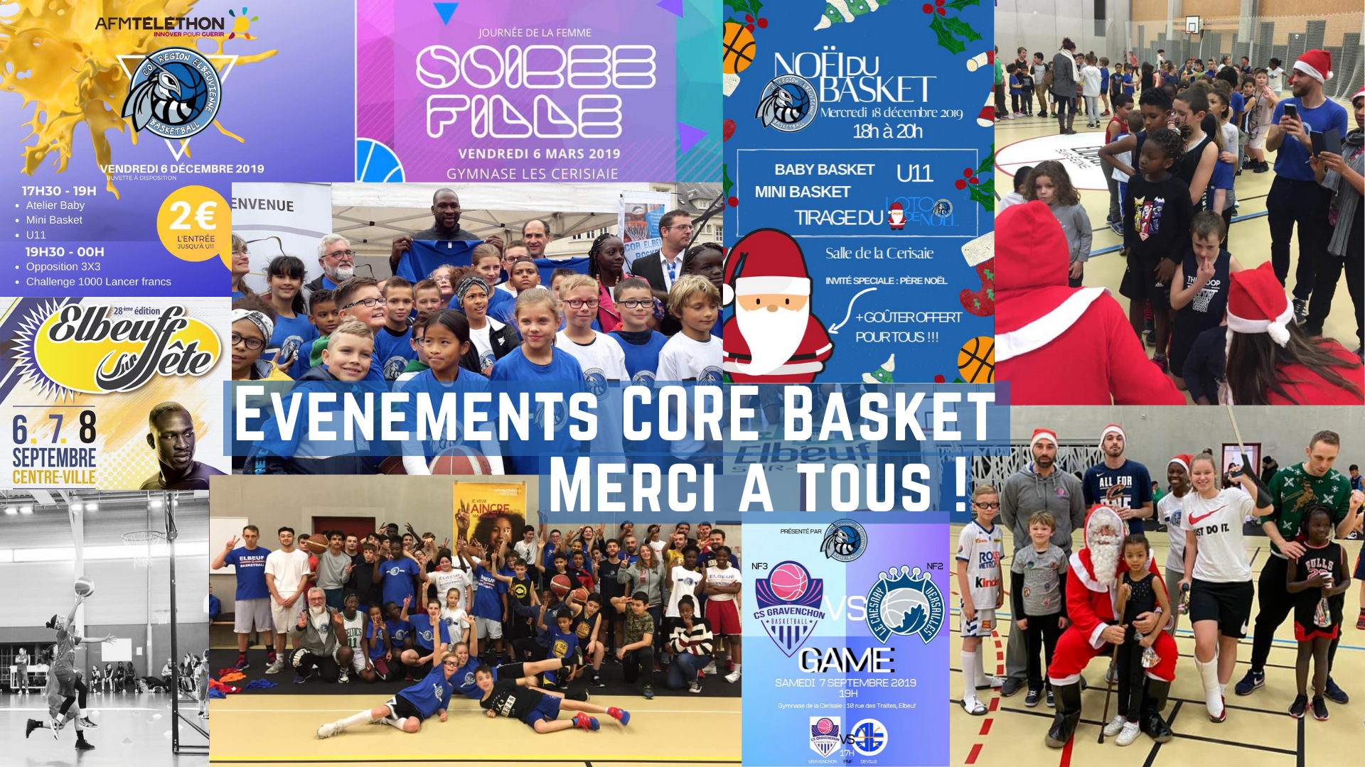 Merci à tous d'avoir participé aux nombreux événements organisés par le CORE Basket !